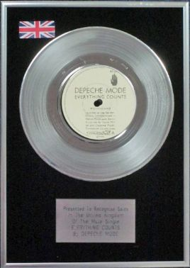 "Depeche Mode - 7"" Platinum Disc - Everything Counts"